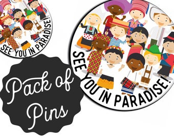 See You In Paradises Love Never Fails Pins  - 2019 International Convention JW Gifts JW.org