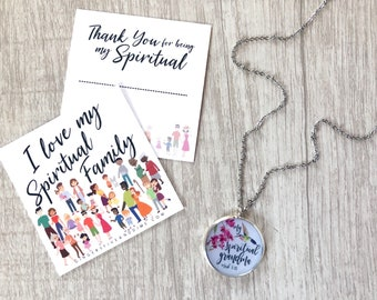 Custom Orchid Hummingbird My Spirtual Mother Daughter Sister Grandma Necklace | jw gifts | jw pioneer gifts