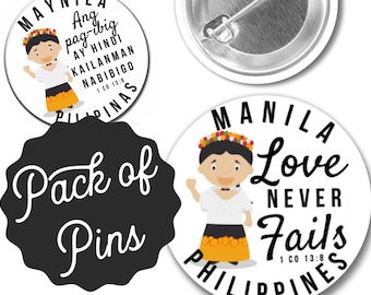 Love Never Fails Manila Philippines  Pins  - Special Convention JW Gifts JW.org