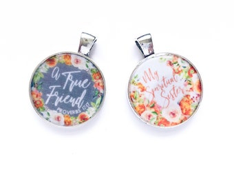 Double Sided A True Friend My Spiritual Sister Necklace Keychain - JW Gifts JW.org