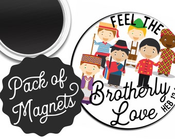 Feel the Brotherly Love Never Fails Magnet Gift | JW JW.ORG