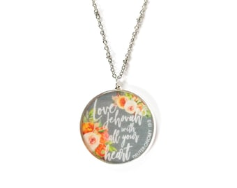 Love Jehovah with all your heart Necklace - Assembly Gifts JW.org Jewelry