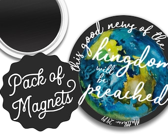 This good news of the kingdom will be preached Magnet Gift | JW JW.ORG