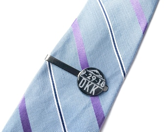 Dedication & Baptism Custom Date and Initials  Tie Clip