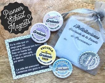 Spanish Pioneer School 2019 Graduate Magnets Gift Bags - JW JW.org Best Life Ever