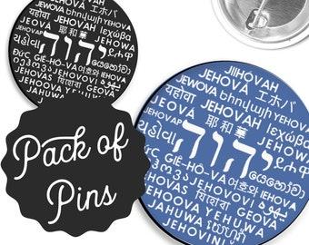 Tetragrammaton Jehovahs Name Pins - JW Regular Pioneer Gifts JW.org