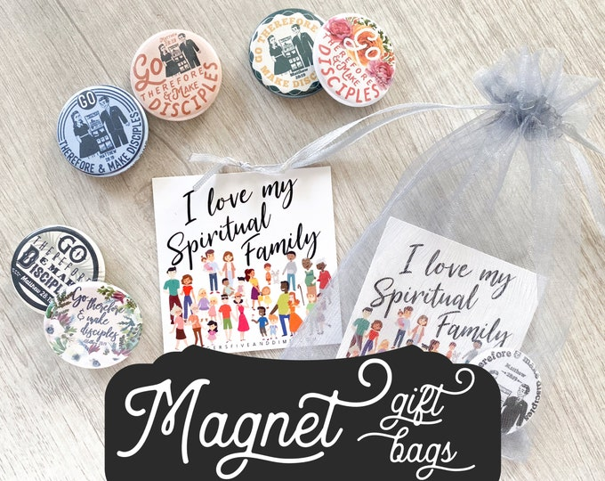 Magnets I Love My Spiritual Family Gift Bags - JW JW.org Best Life Ever Go Make Disciples