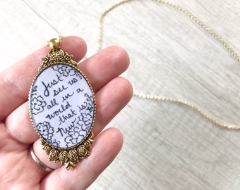 Just See Us All in a World that is New Necklace | jw gifts | jw pioneer gifts