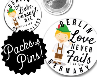 Love Never Fails Berlin Germany Pins  - German 2019 Special Convention JW Gifts JW.org