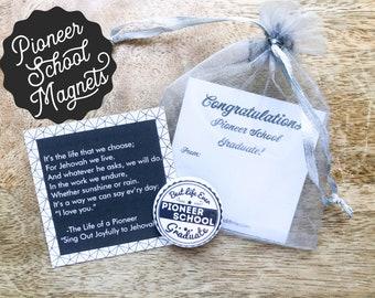 Pioneer School Graduate Magnets Gift Bags - JW JW.org Best Life Ever