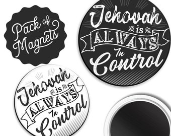 Jehovah is Always in Control Magnet Gift | JW Assembly