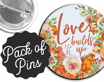 Love Builds Up Pins  - Assembly JW Gifts JW.org
