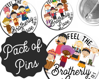 Feel the Brother Love Pins  - 2019 International Convention JW Gifts JW.org
