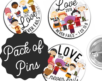Love Never Fails  Pins  - 2019 International Convention JW Gifts JW.org
