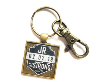 Dedication and Baptism Keychain Personalized