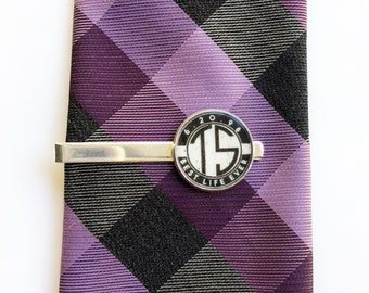Vintage Dedication & Baptism Custom Date and Initials Tie Clip - JW Elder Gifts JW.org