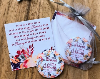 Elders Wives Gift Bags Magnets - Gifts JW JW.org 2019 The Woman Who Fears Jehovah will be praised
