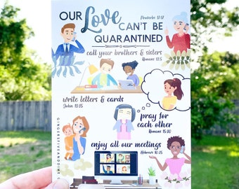 JW Postcards Our Love Can't Be Quarantined - Pandemic Encouragement