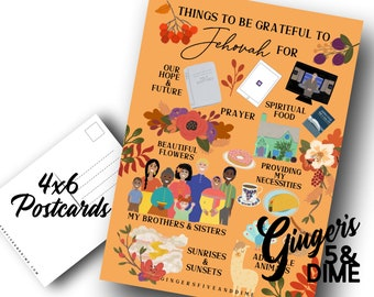 JW Postcards Things To Be Grateful to Jehovah For - Pandemic Encouragement