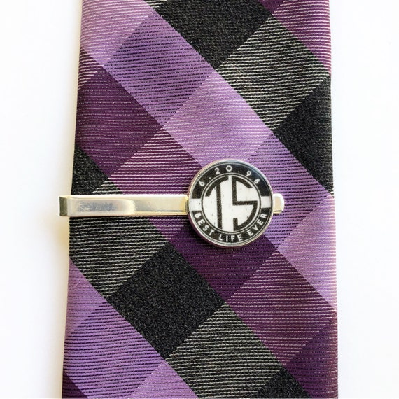 Dedication /& Baptism Custom Date and Initials Tie Clip JW Brothers Gift Assembly Convention