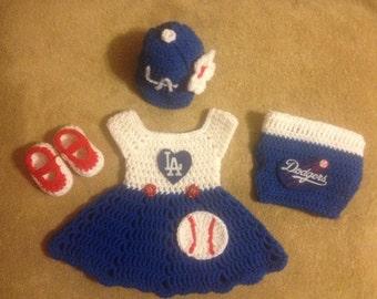 a4fbc9e2260 LA Dodgers inspired dress set