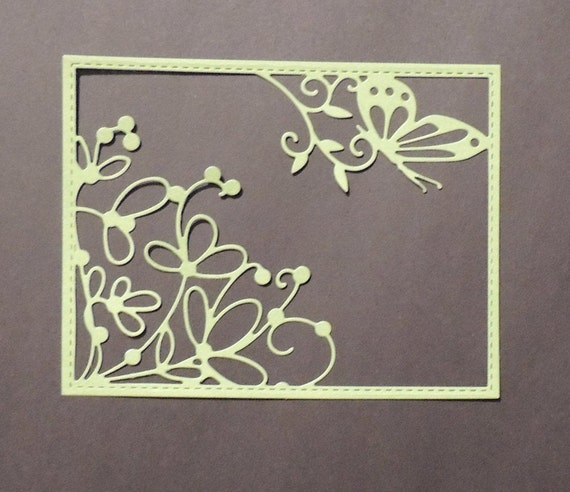 Crafts Metal Butterfly Floral Frame Panel Die Cutter