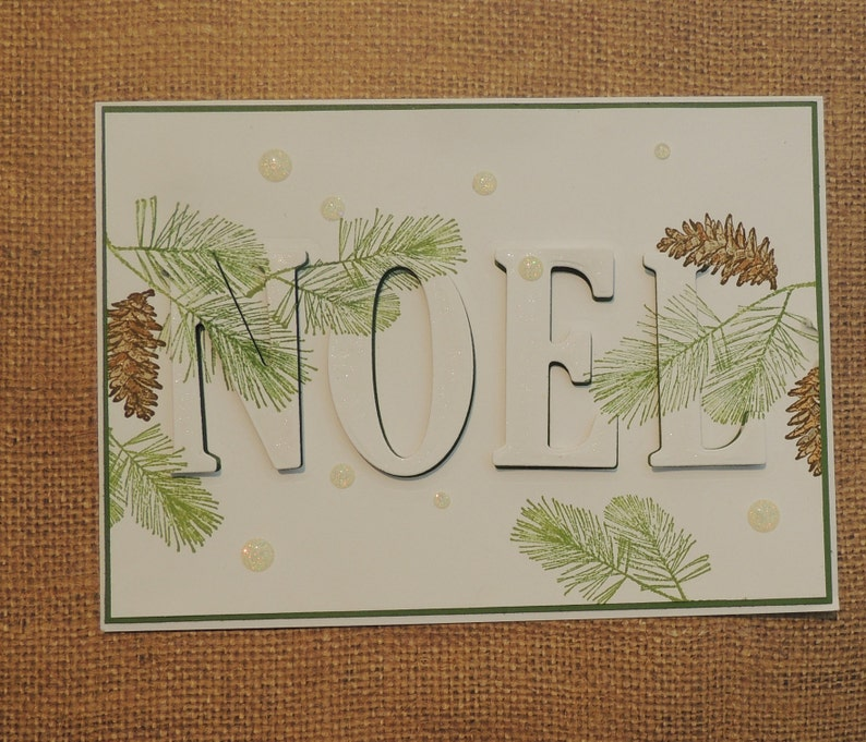 Christmas Card Eclipse Style Card Hand Stamp Card.