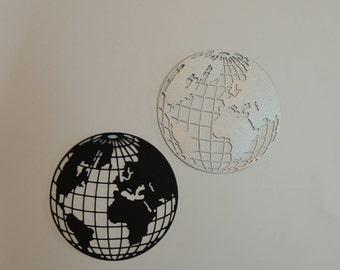 Planet Earth Die Cuts, Globe Die Cuts.