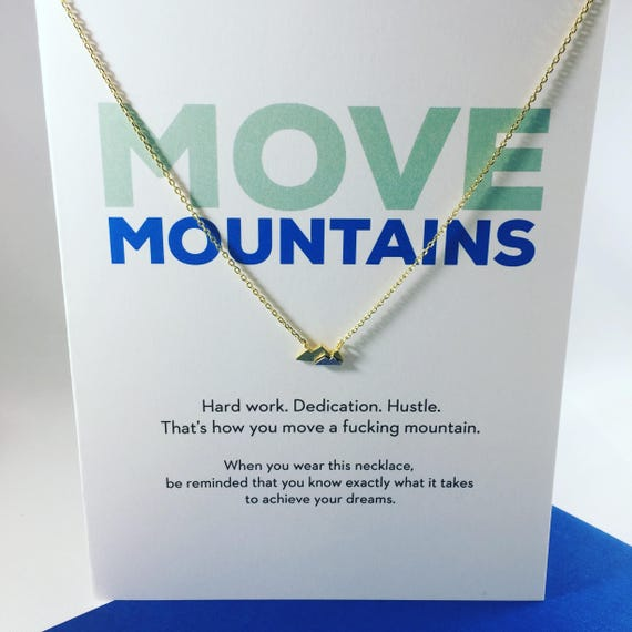 Move mountains greeting cards necklaces etsy image 0 m4hsunfo