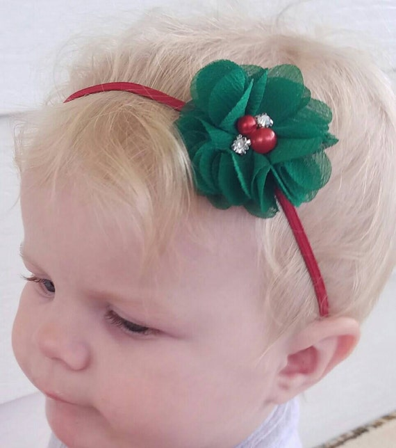 Christmas Headband For Baby Girl.Christmas Headband Christmas Headband Baby Girl Christmas Toddler Christmas Red Green Headband Newborn Headbands Baby Girl Headband