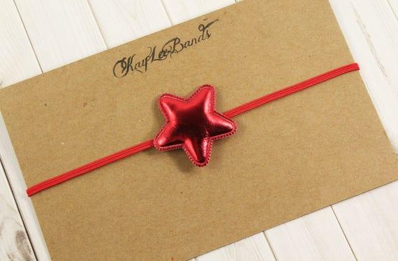 Noël étoiles bandeau serre-tête étoile rouge rouge Noël   Etsy cae84a629c4