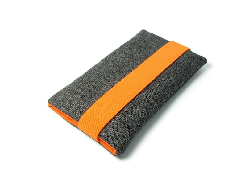 buy online 8923c 851f7 Fairphone 2 Case, Fairphone 1 Sleeve - Orange, Gray, Fabric, Cotton,  handwoven, fair trade fabric
