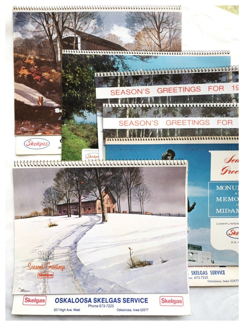 13 Month Calendars 1980s Calendars Old Business Calendars Wall image 0