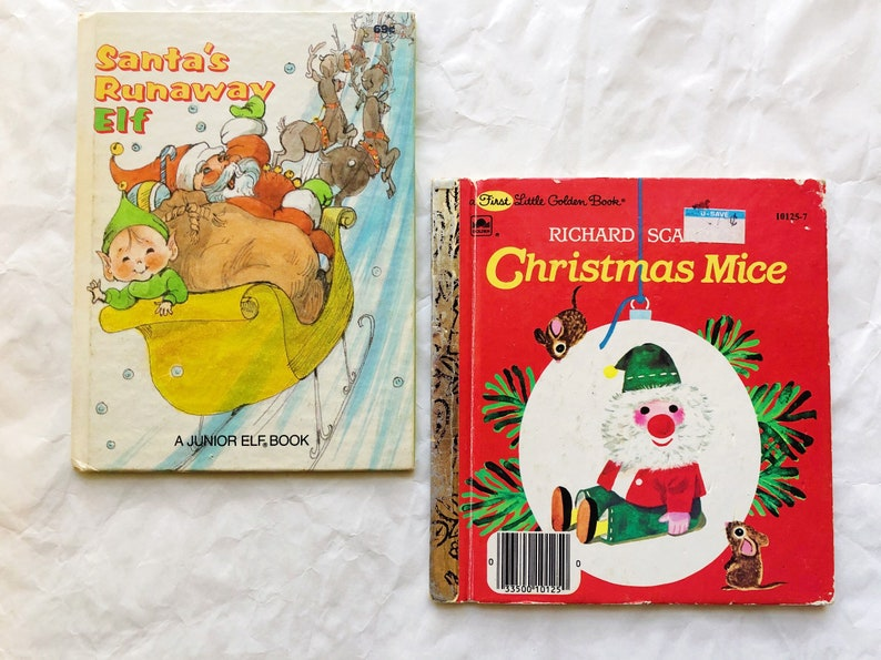 Lot of Vintage Christmas Books Richard Scarry Golden Books image 0