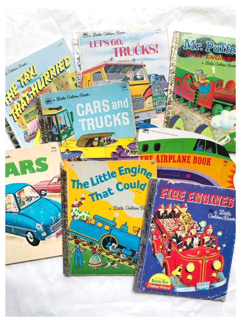 You Choose Little Golden Books Cars and Trucks Book Mr Puffer image 0