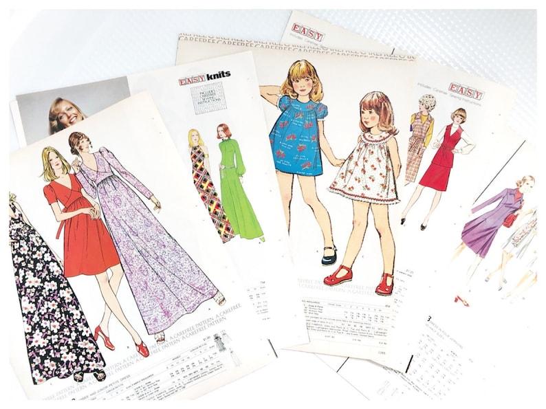1973 McCalls Dress Pattern Book Pages Journal Ephemera Vintage image 0