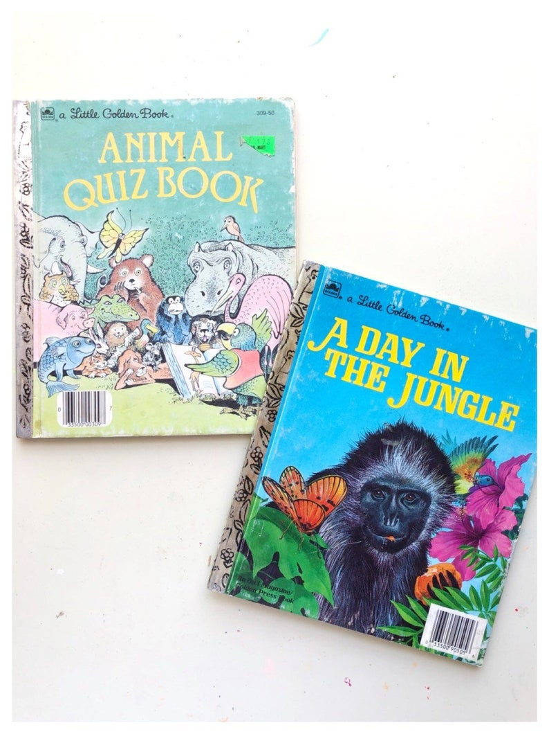 Animal Quiz Book Lot of Animal Little Golden Books A Day in image 0