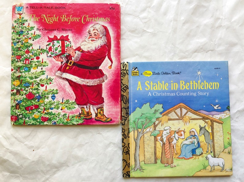 Lot of Vintage Christmas Books Santa Claus Golden Books Night image 0