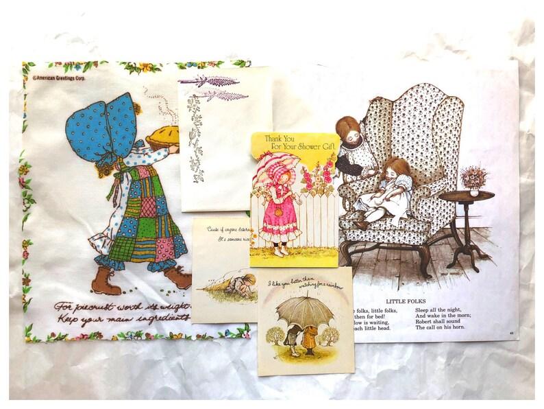 Vintage Holly Hobbie Junk Journal Kit Holly Hobbie ABC Book image 0