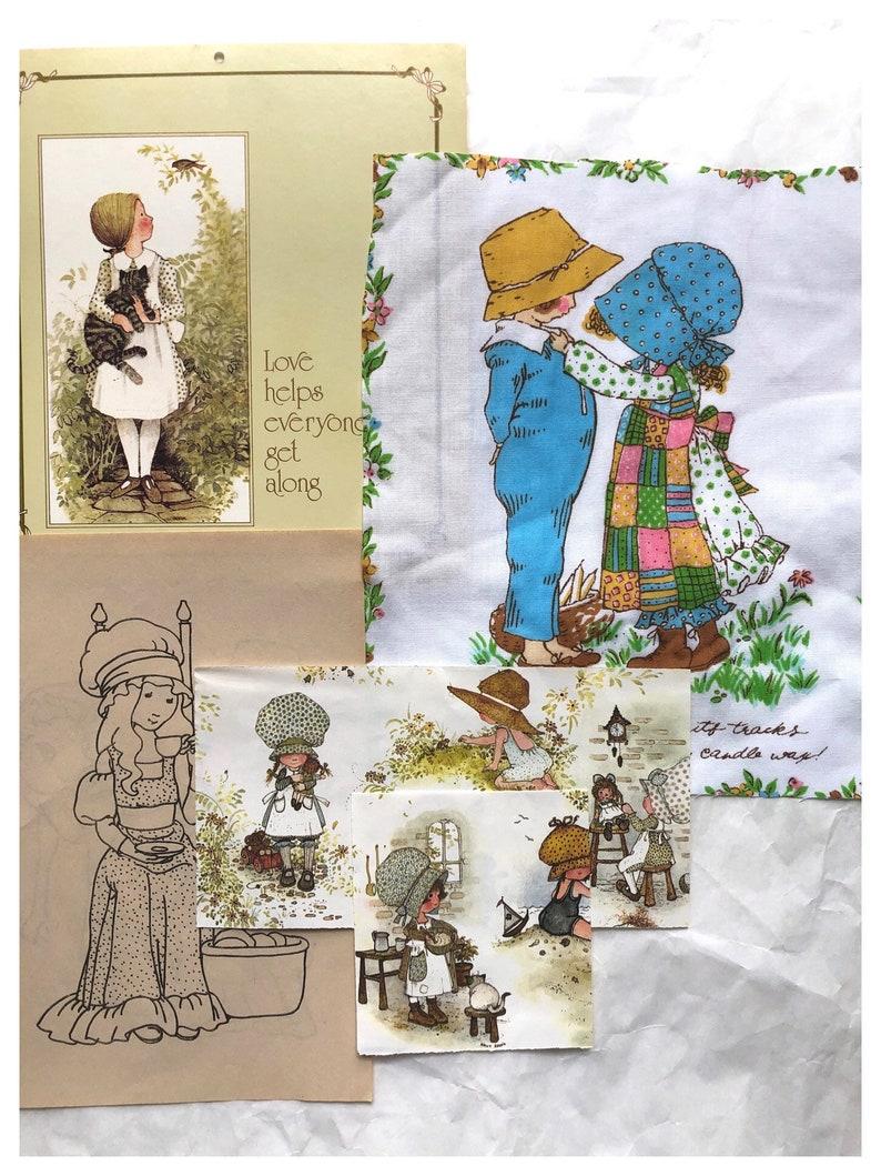 Vintage Holly Hobbie Junk Journal Kit Holly Hobbie Calendar image 0