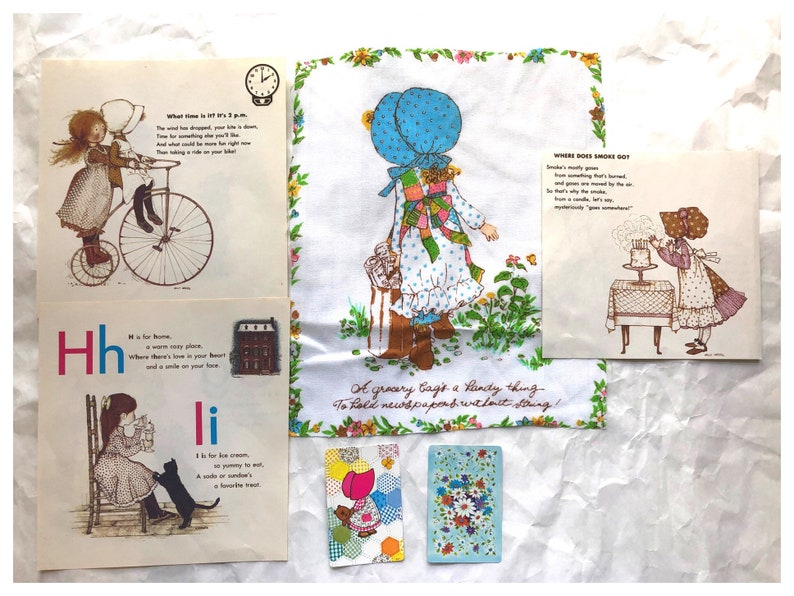 Vintage Holly Hobbie Junk Journal Kit Holly Hobbie ABC Book image 0