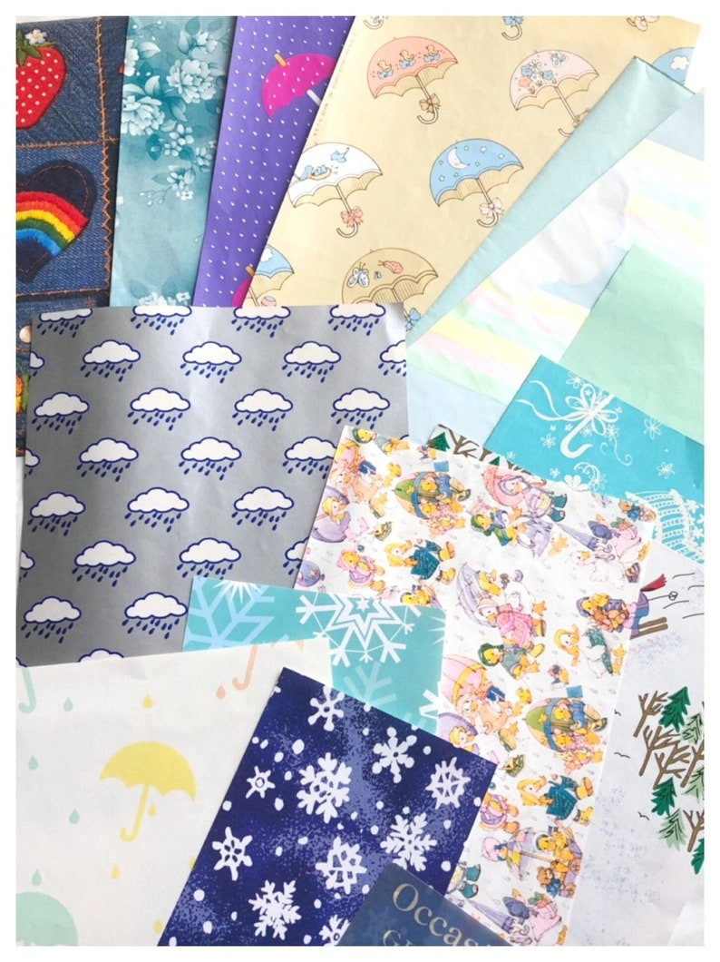 Weather Wrapping Paper Pack Vintage Hallmark Gift Wrap image 0