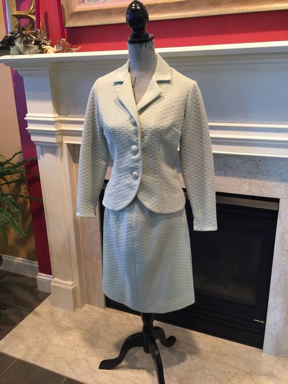 Vintage Suit, Vintage Tailored Suit,Light Green 1… - image 5