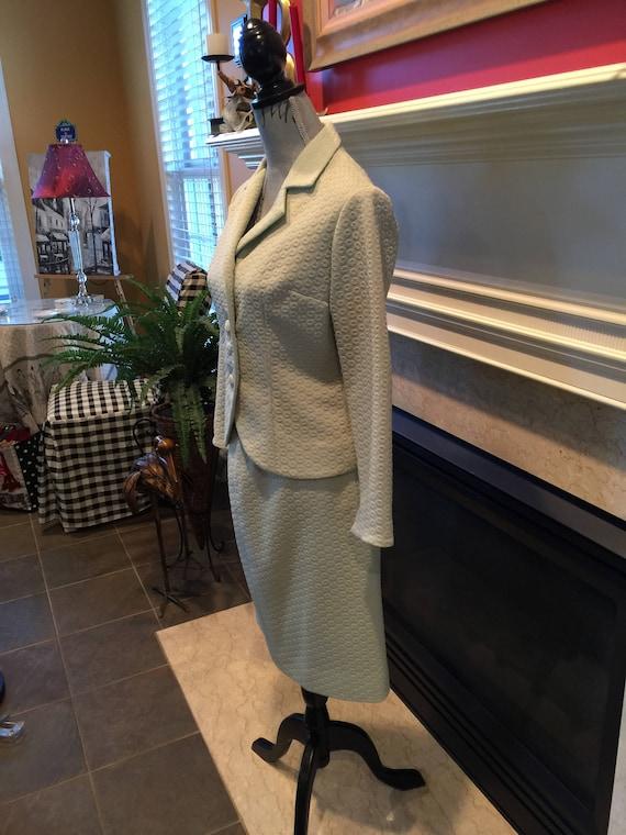 Vintage Suit, Vintage Tailored Suit,Light Green 1… - image 2