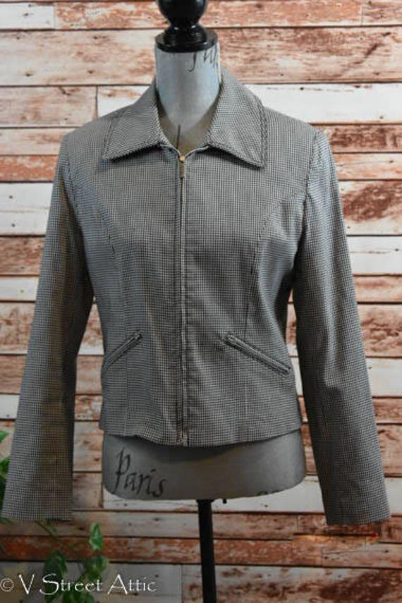 Jacket, Short Jacket, Black & White Checked, Jacke