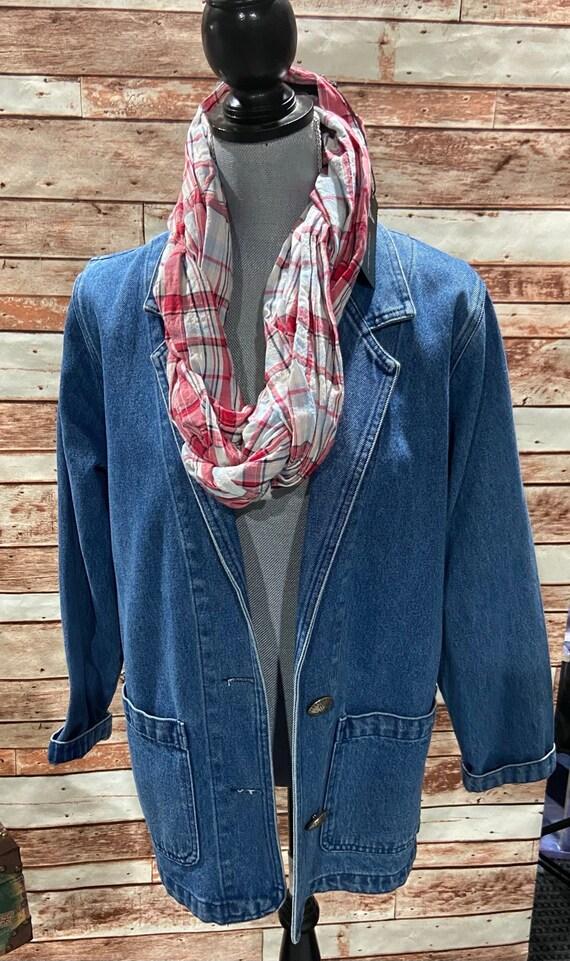 Jean Jacket, Vintage Jean Jacket, Car-Length Jean