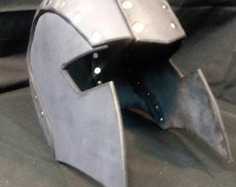Basic Leather Combat Sports Helmet