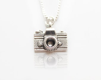 Sterling Silver Necklace, Photography Camera Charm, Camera Necklace, Photographer, Film Camera, Camera Pendant, Photography,