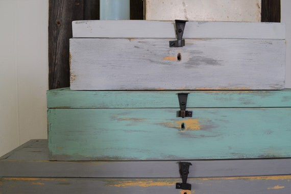 10 Rustic storage boxes shabby chic Upcycled Recycled wooden aged £6 each box
