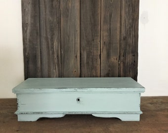 Antique Style Jewelry Box , Reclaimed Wood Storage Box with Compartments